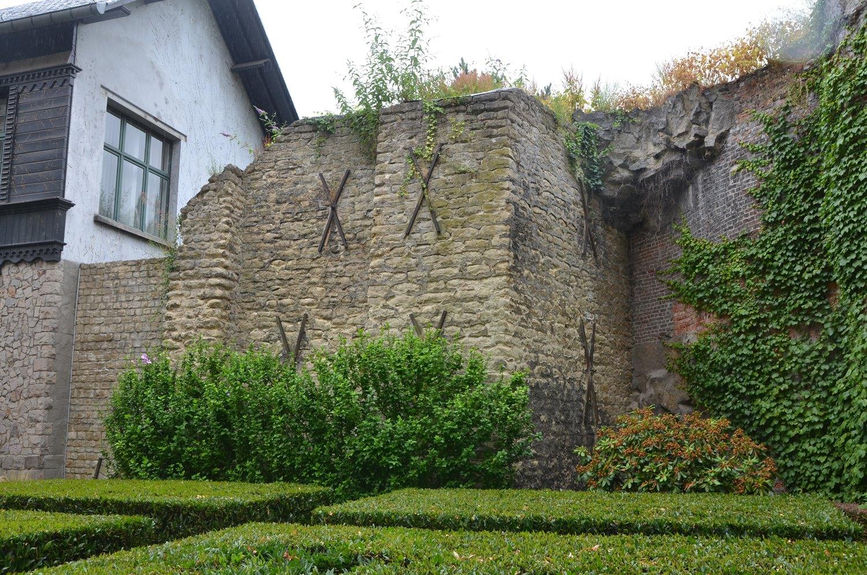 Rue Brederode, tronçon du mur d'enceinte, 2015
