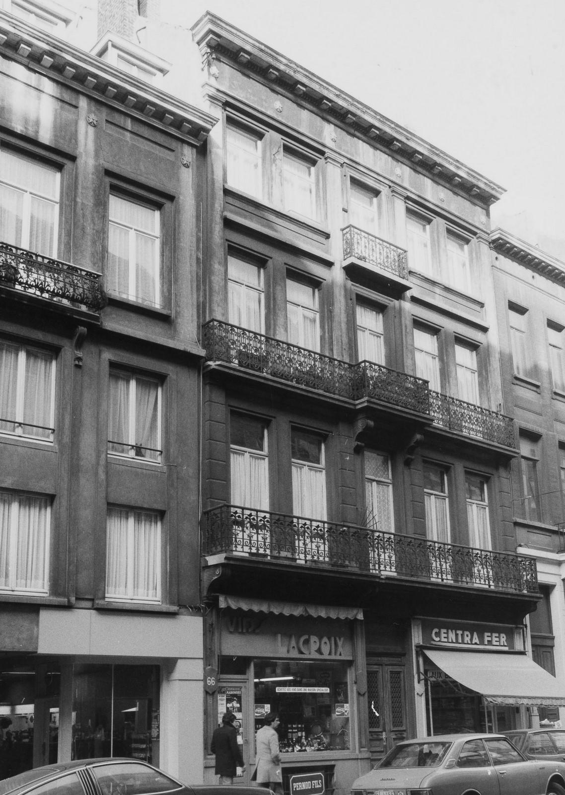 rue de la Croix de Fer 66-68., 1981