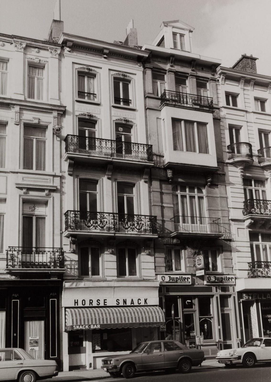 rue de l'Enseignement 10-12, 14-16., 1981