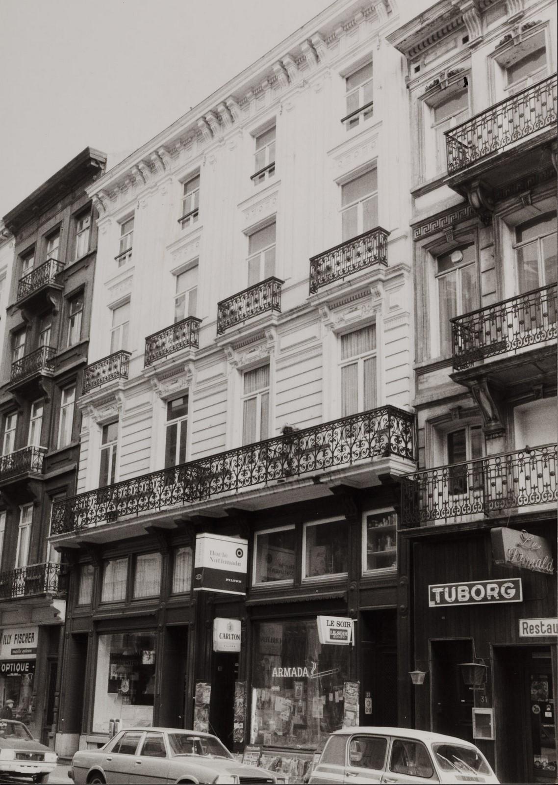rue de l'Enseignement 37-39, 33-35., 1981