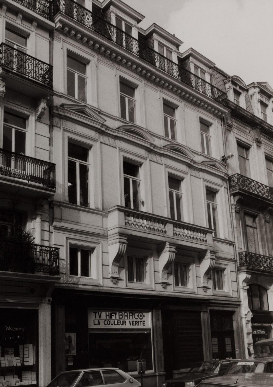 rue de l'Enseignement 52-54., 1981