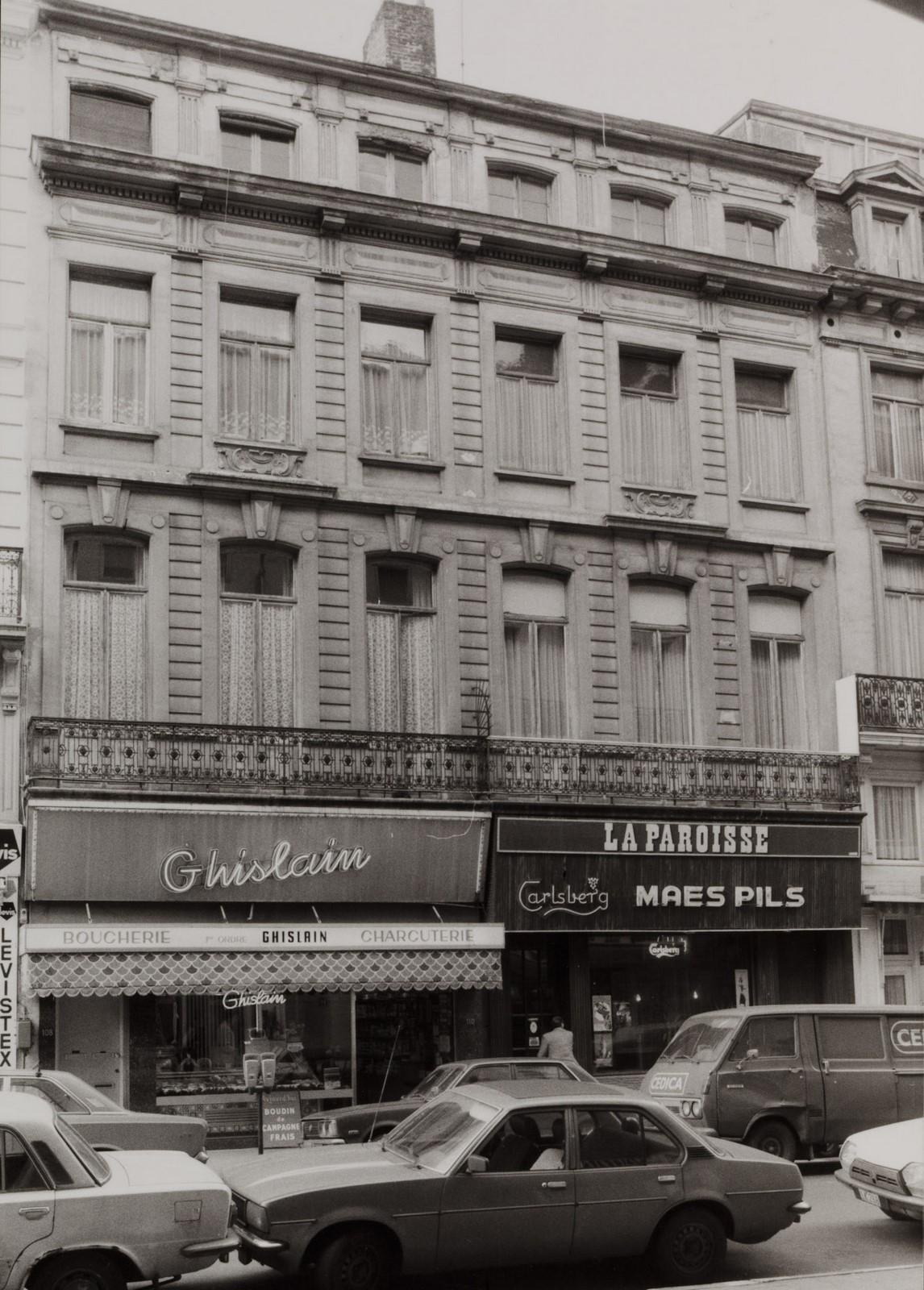 rue de l'Enseignement 108-110, 112-114., 1981