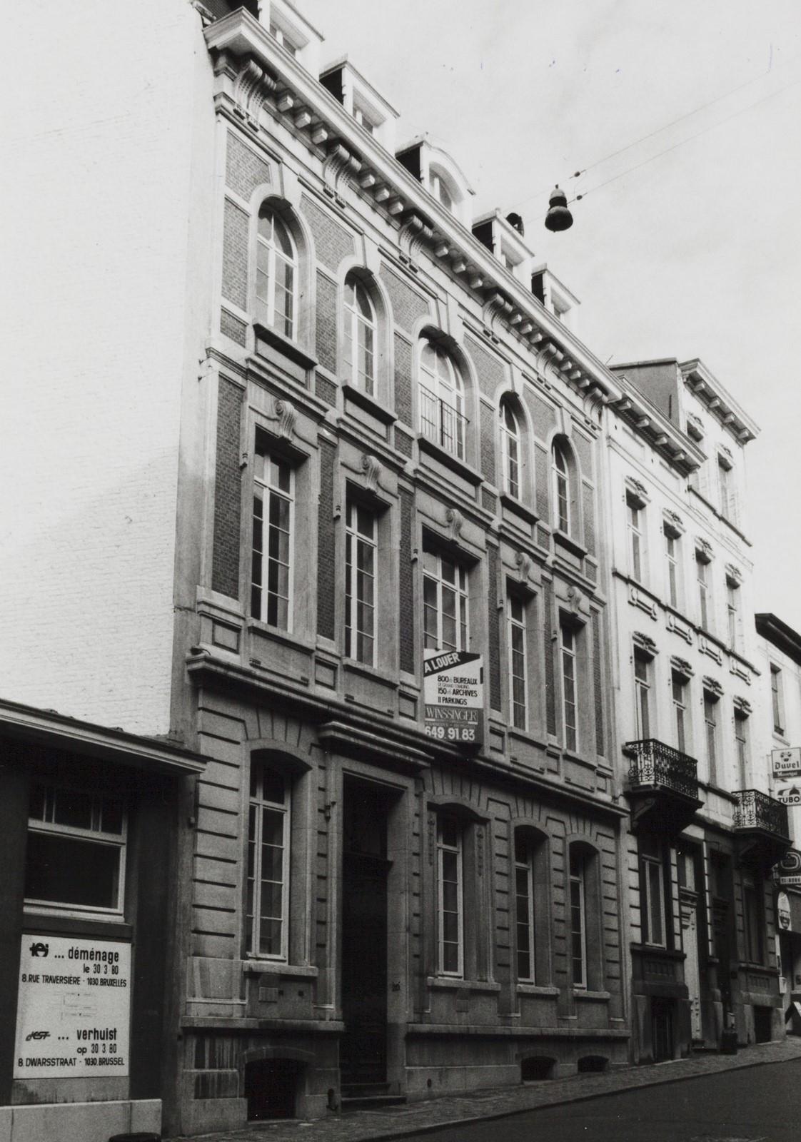 rue de la Sablonnière 20., 1981