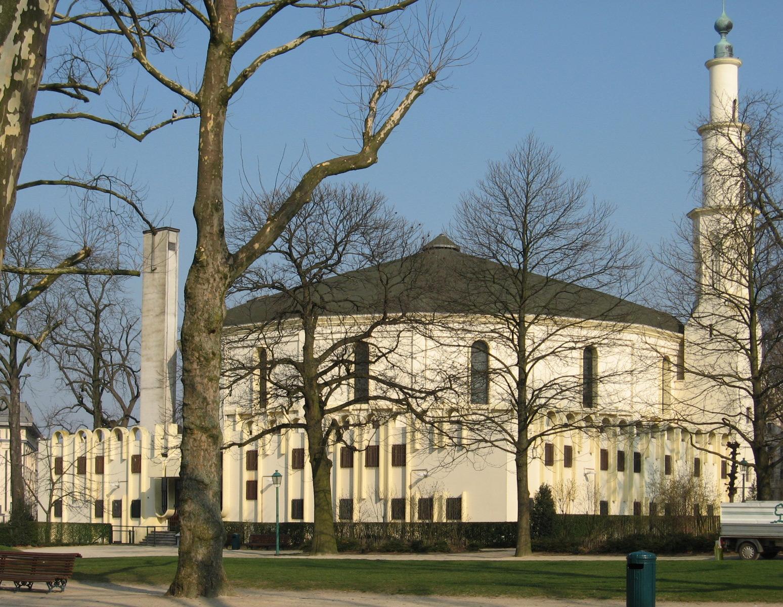 Grote Moskee van Brussel en Islamitisch en Cultureel Centrum van België, zuid- en oostgevel., 2007