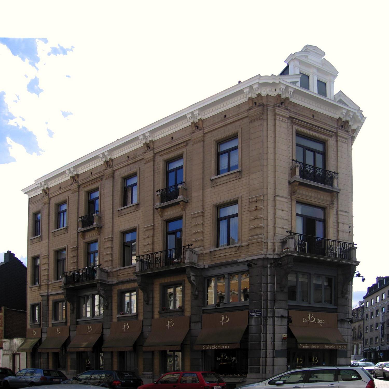 Rue Jacques Jordaens 7 à 1 et chaussée de Vleurgat 192, façade vers la rue Jordaens., 2005