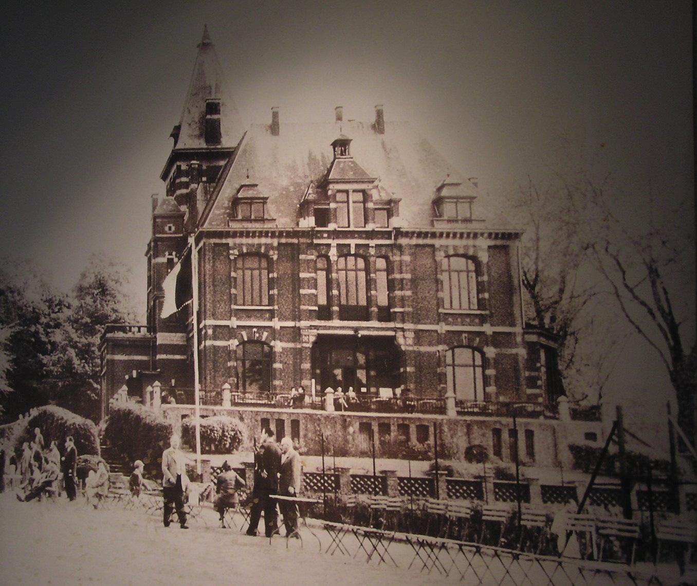 Avenue du Pérou 80, ancien bâtiment du Club House de la société Solvay (source inconnue).