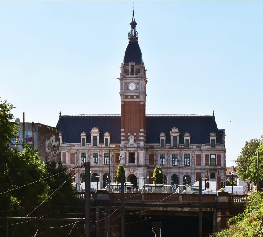 Place Émile Bockstael, ancien hôtel communal, façade principale, 2017