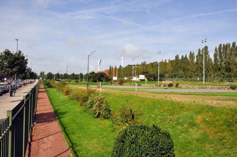 Avenue de Marathon, stade Victor Boin, vue depuis le sud-ouest© ARCHistory / APEB, 2011