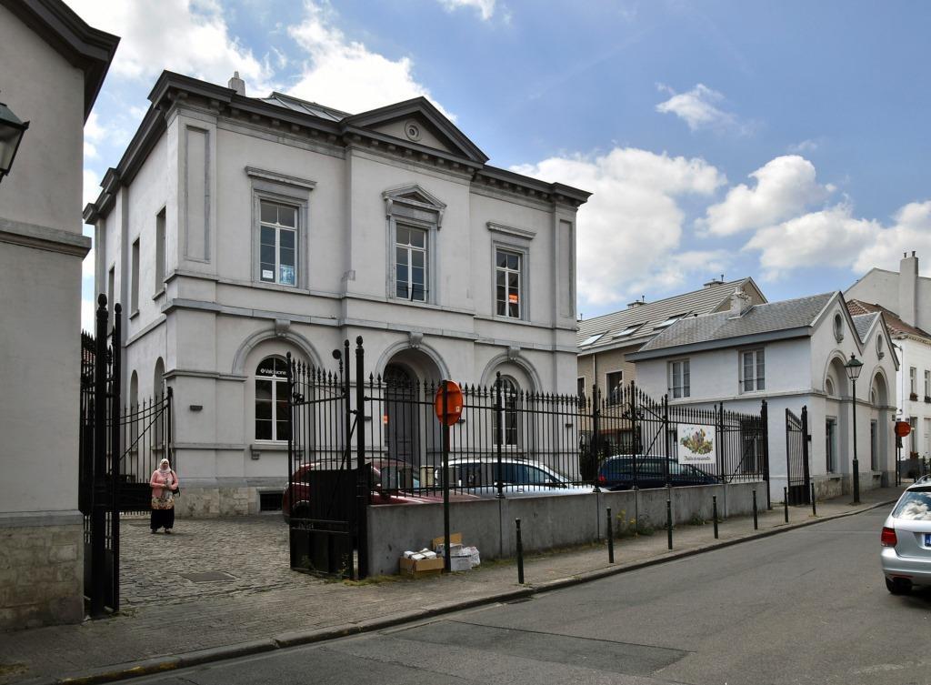 Paleizenstraat over de Bruggen 458-462, voormalig gemeentehuis, 2017
