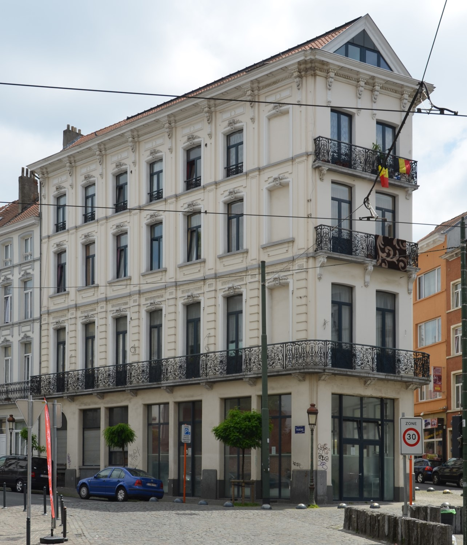 Rue Rubens 1 - rue Vandermeersch 2, façade vers la rue Rubens, 2014