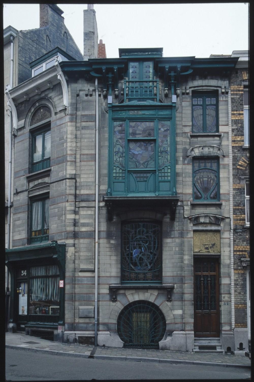 Rue André Van Hasselt 34 et 32© (Photo Ch. Bastin & J. Evrard © MRBC)