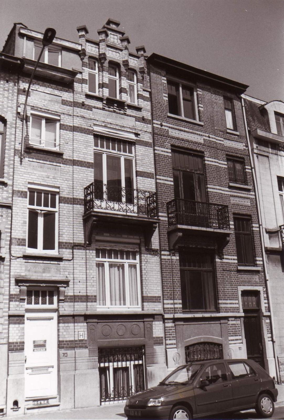 Rue Bâtonnier Braffort 70 et 72., 1994
