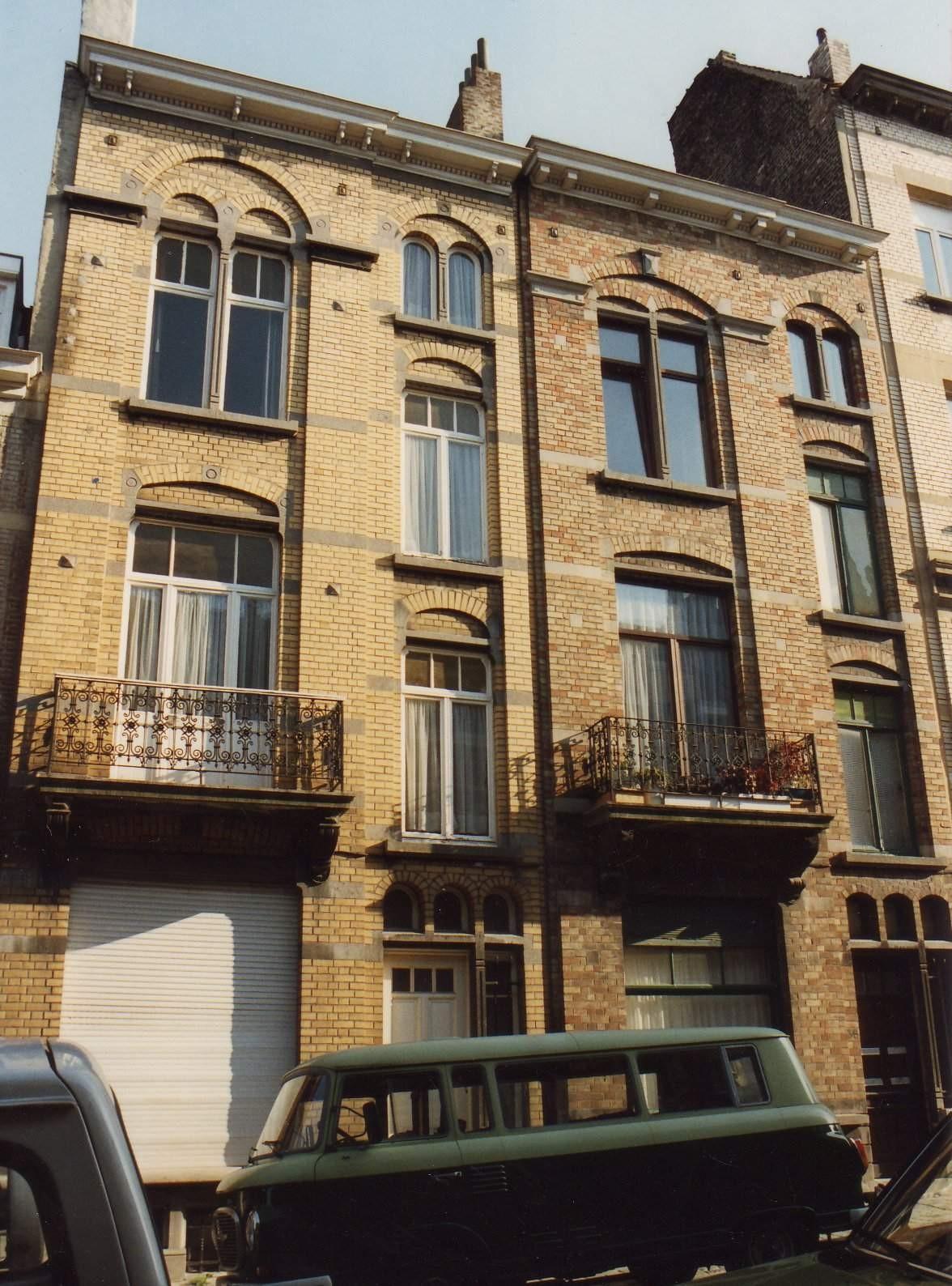 Rue Ernest Havaux 36 et 38., 1993