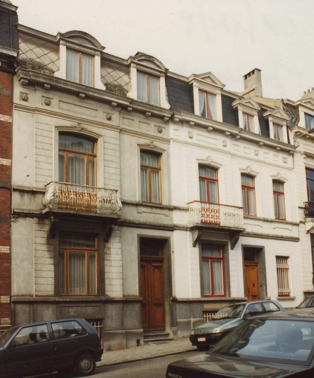Rue Jonniaux 26 (à gauche) et 28., 1994