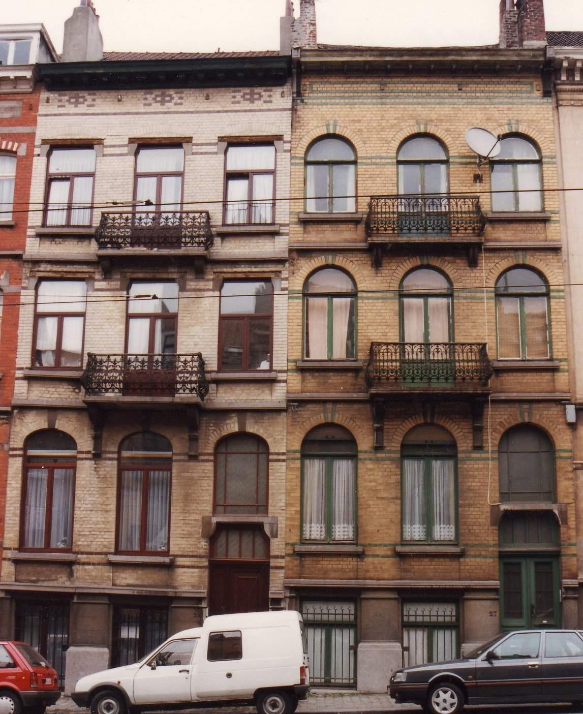 Avenue Victor Jacobs 27 et 29., 1993
