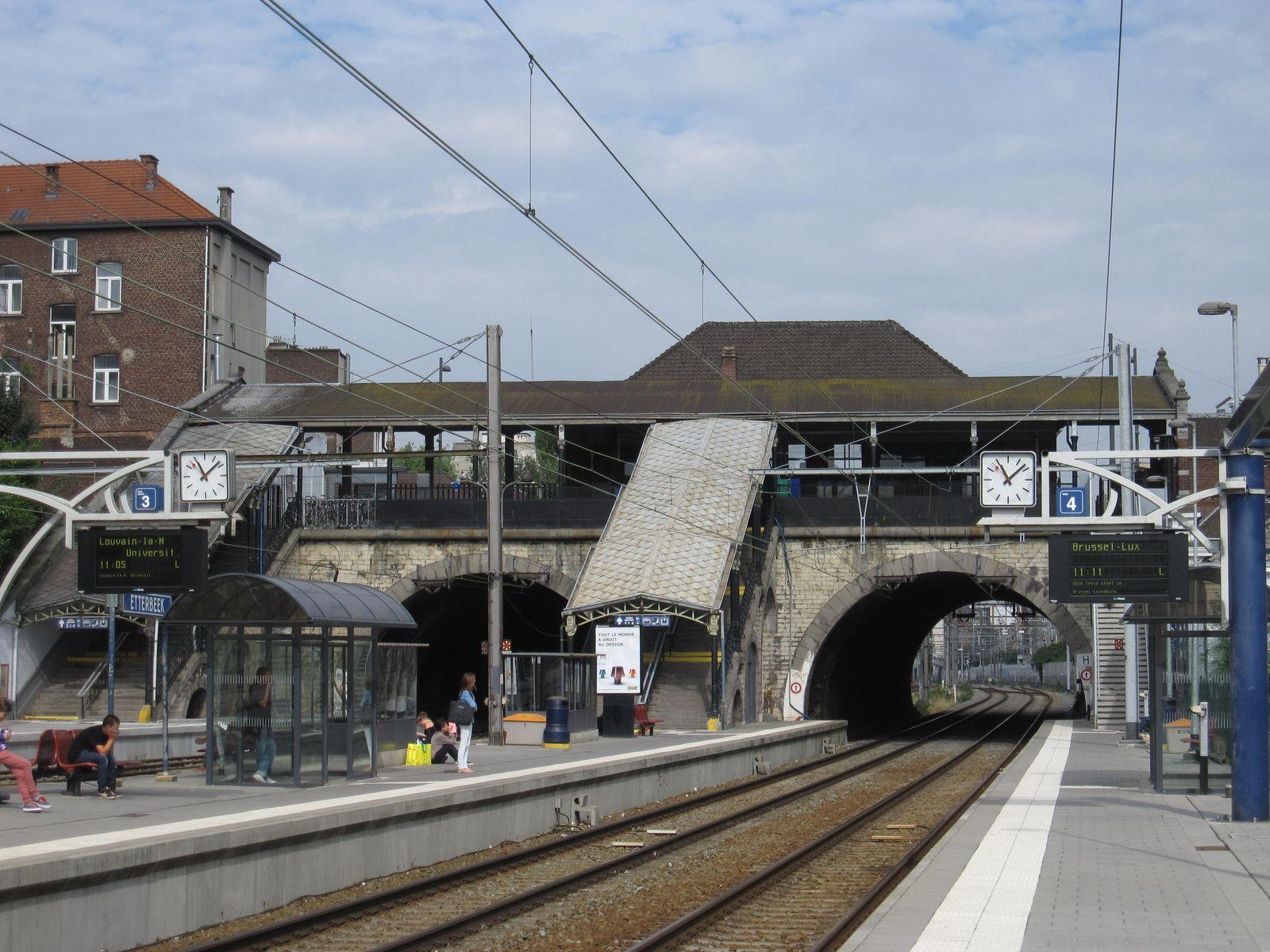 Boulevard Général Jacques 265, ancienne gare d'Etterbeek, les quais, 2013
