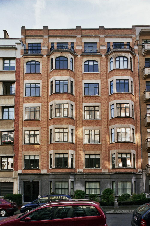 Rue Jules Lejeune 4 et rue Jean Chapelié 3, façade vers la rue J. Lejeune., 2006