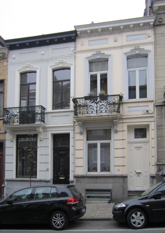 Rue Maes 63 et 61, 2011