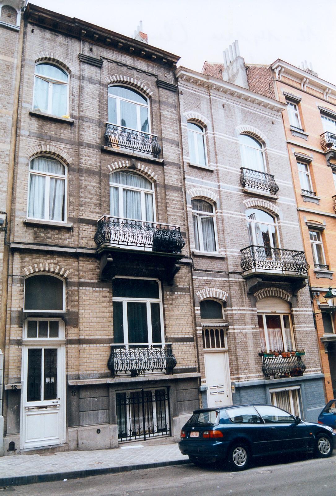 Rue Alfred Cluysenaer 12 en 14., 2003