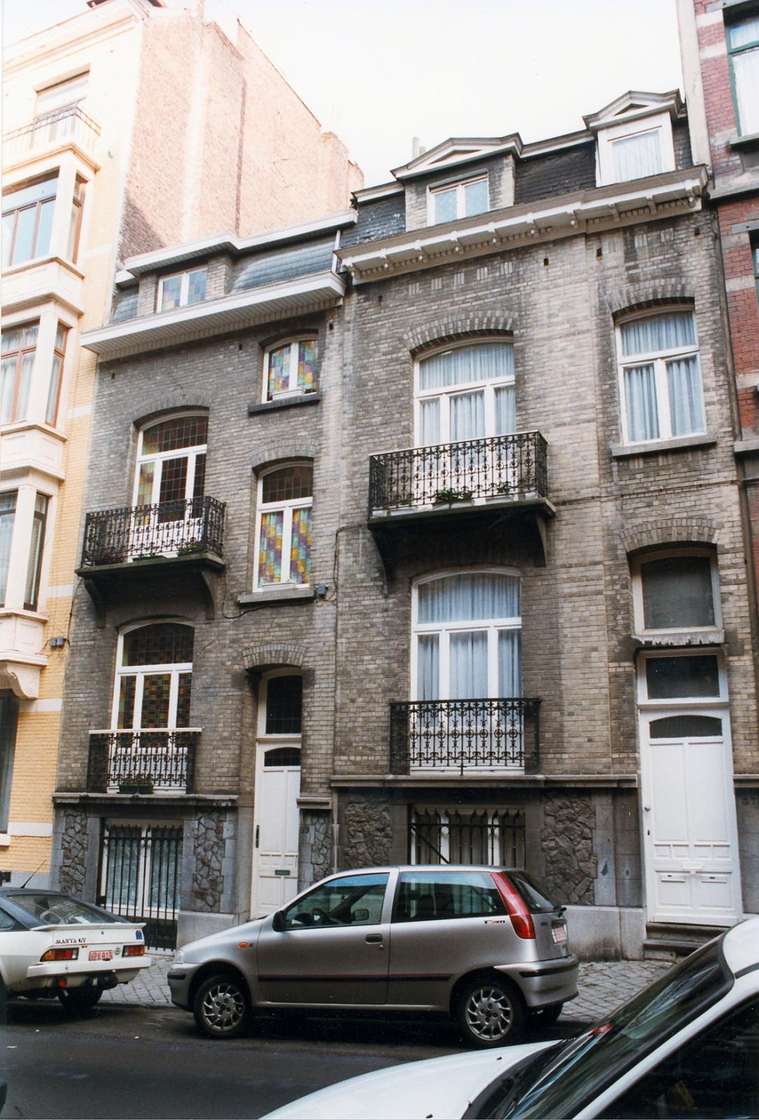 Rue Alfred Cluysenaer 59 en 57., 1998
