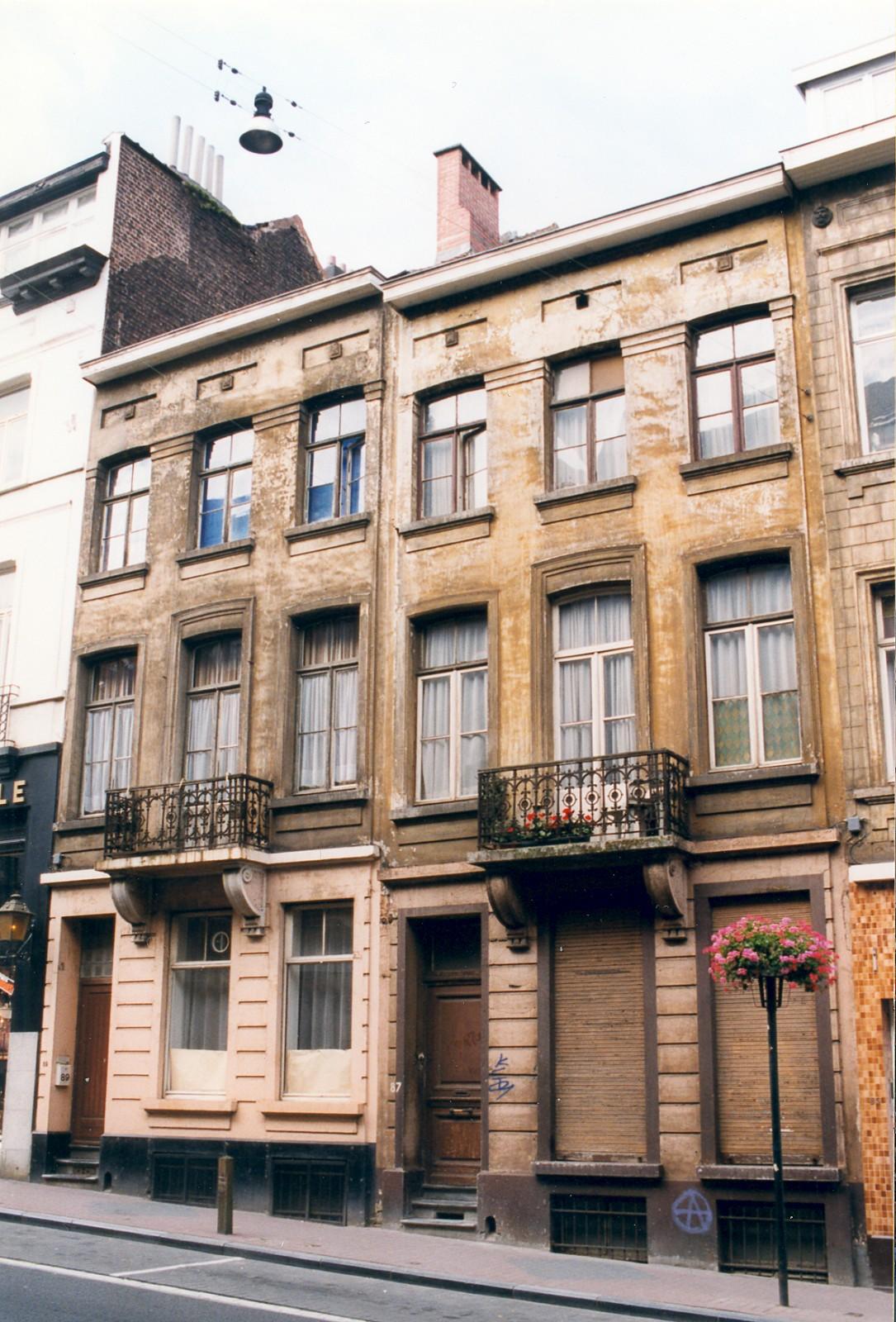 Chaussée d\'Alsemberg 89, 87., 1999