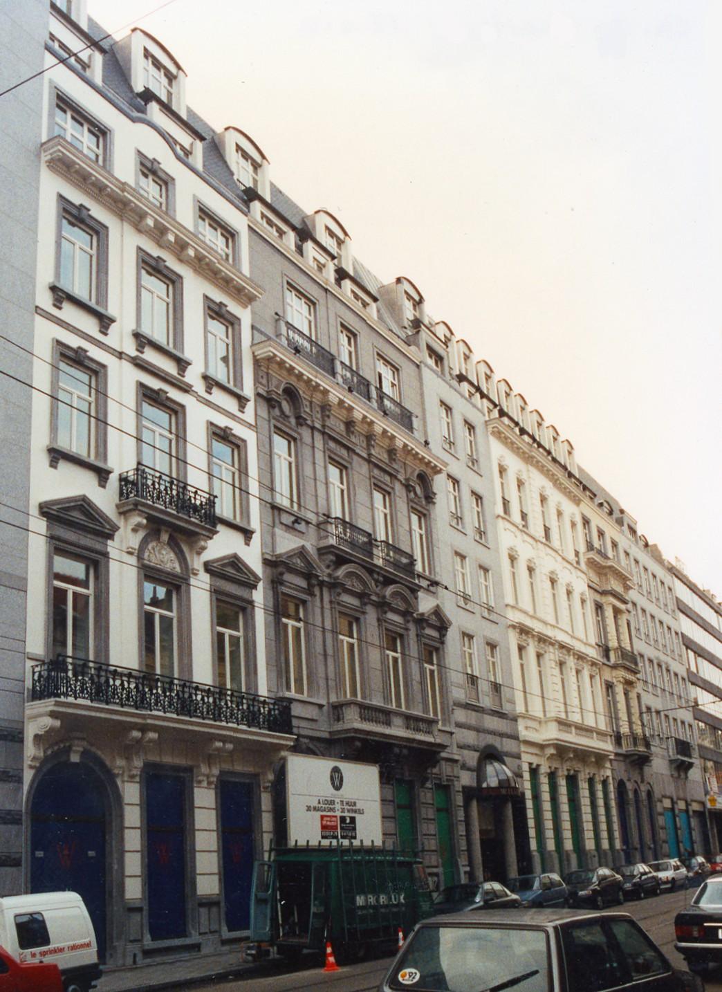 Chaussée de Charleroi 10 à 22, complexe Wiltcher's., 1993