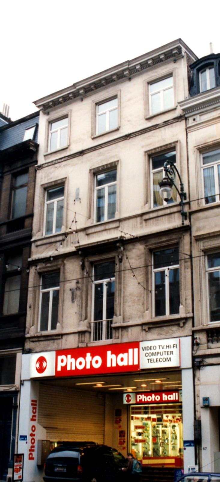 Chaussée de Charleroi 69., 1999