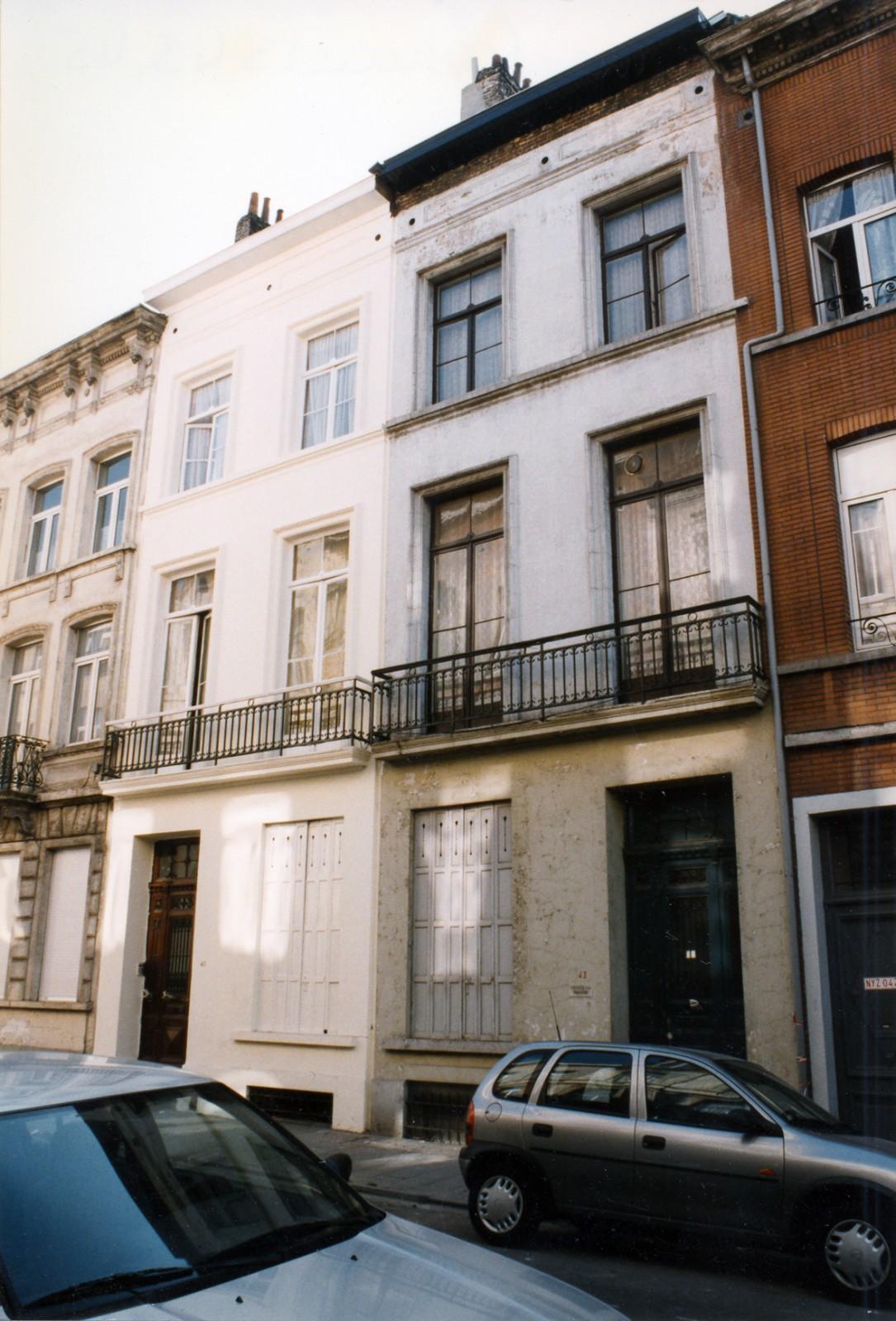 Rue Coenraets 45 et 43., 2004