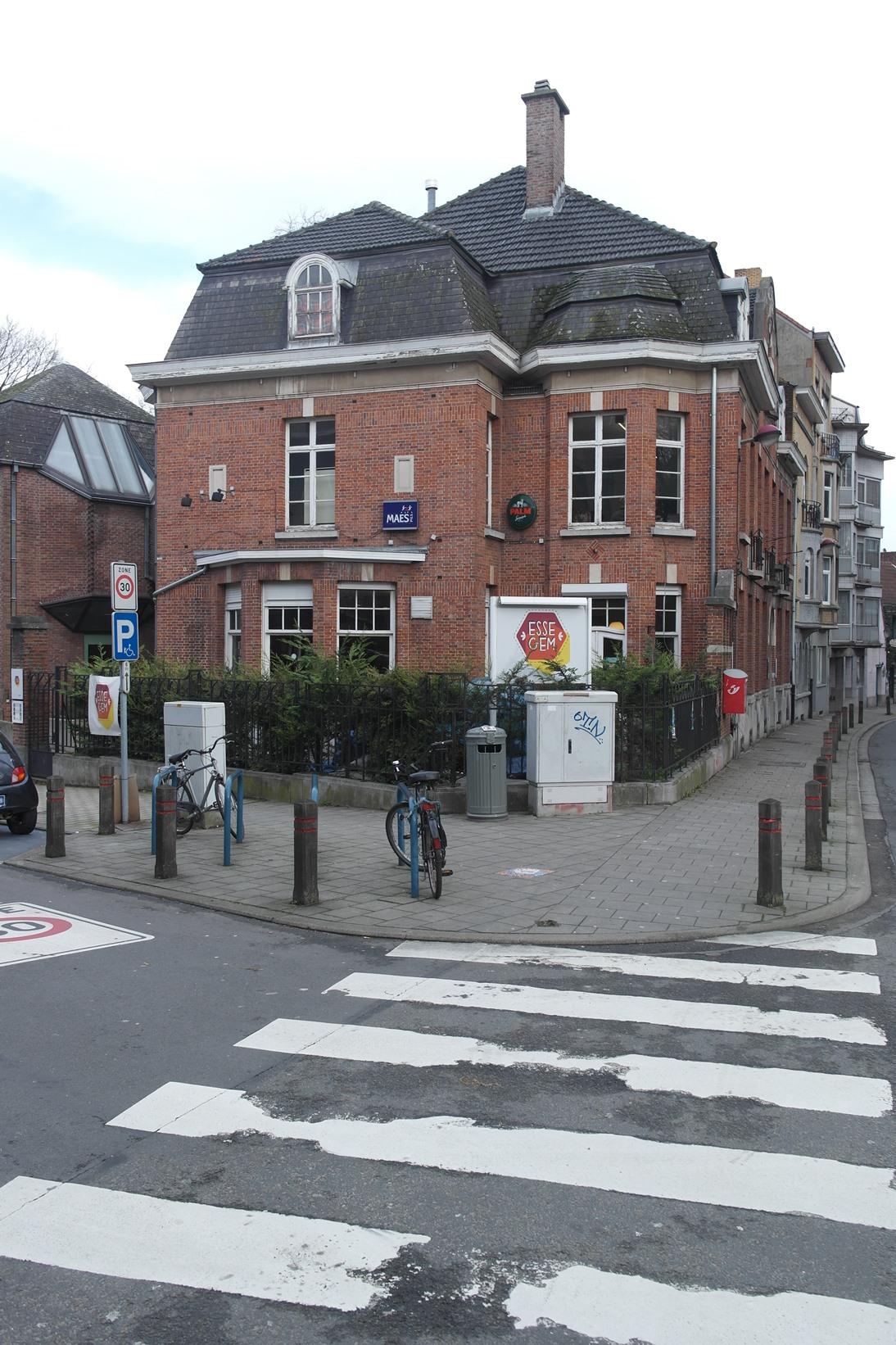 Rue Leopold I 329, façade latérale depuis l'avenue Amélie Gomand, 2015