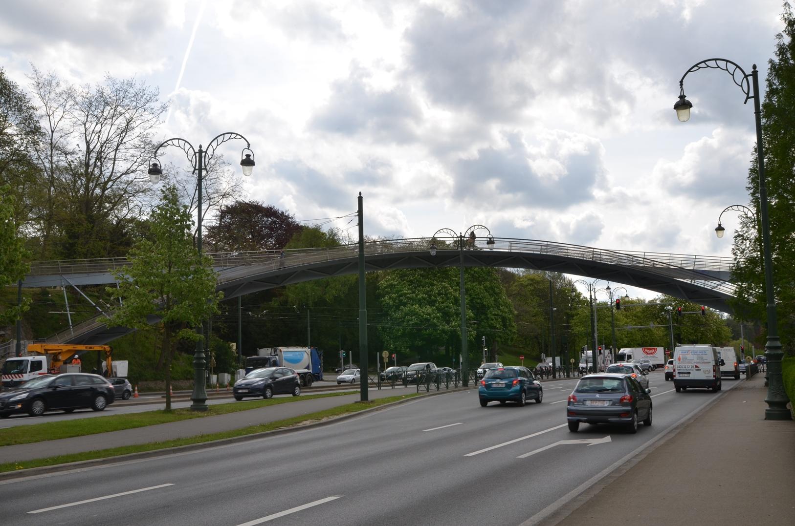 Avenue de Tervueren, passerelle, 2015