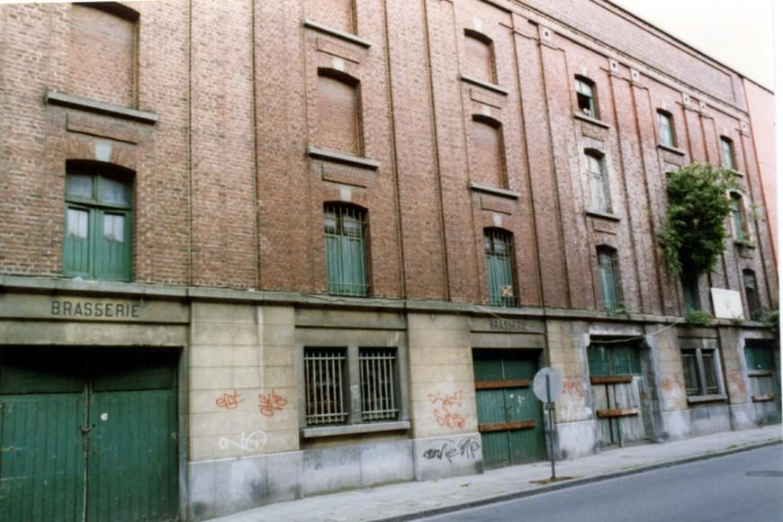 Rue Braemt 60 à 80, façades postérieures de l'anc. Brasserie Aerts (photo 1993-1995).