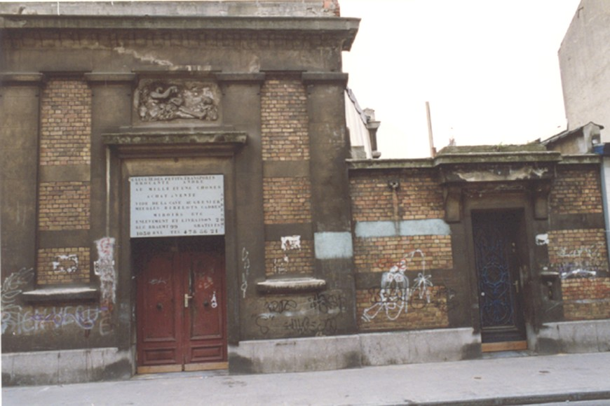Rue Braemt 97-99, anc. atelier du peintre Herman Courtens (photo 1993-1995).