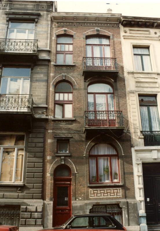 Rue de Liedekerke 107 (photo 1993-1995).