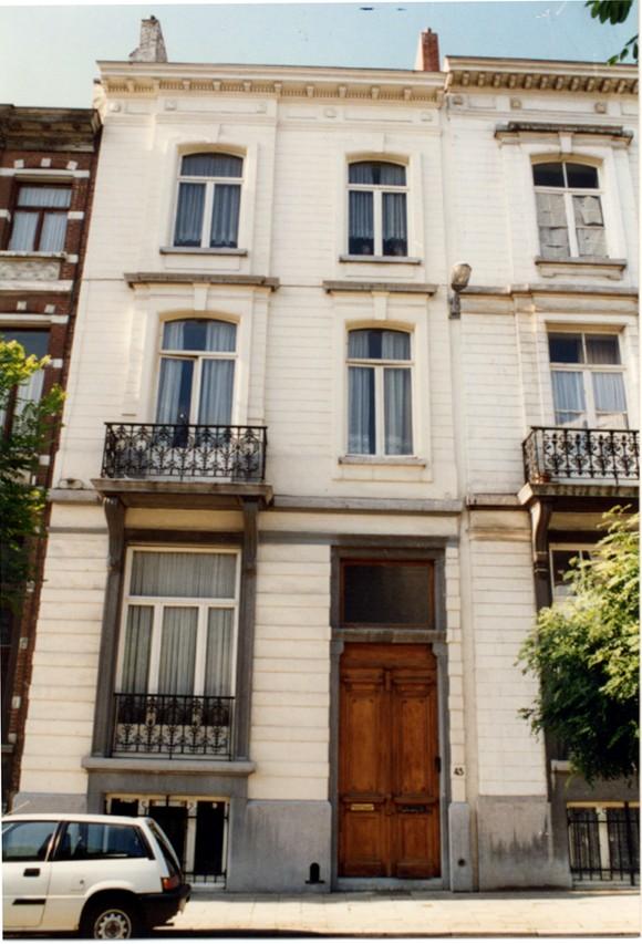 Avenue Jottrand 43 (photo 1993-1995).