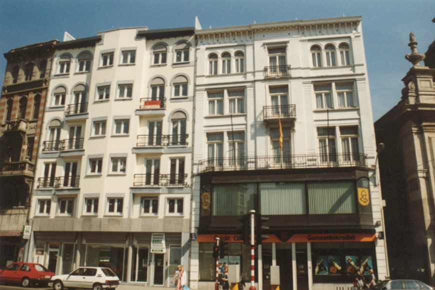 Leuvensesteenweg, rechts nr. 95 (foto 1993-1995).