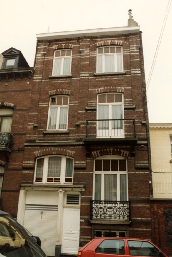 Rue Vanderhoeven 22 (photo 1993-1995).