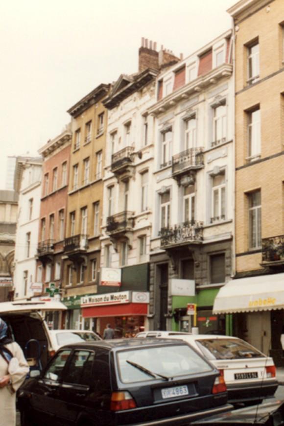 Rue Verbist 1 à 13 (photo 1993-1995).