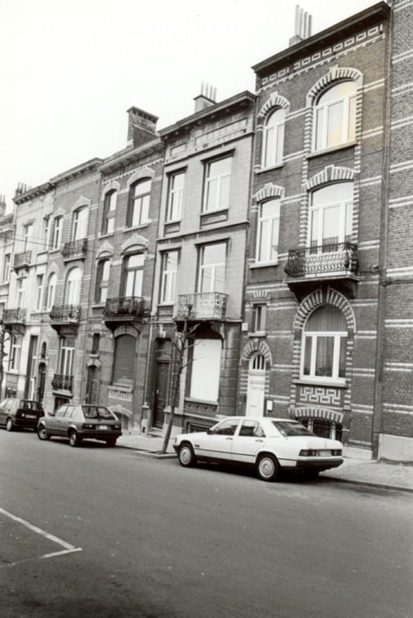 Rue Verbist 105 à 111 (photo 1993-1995).