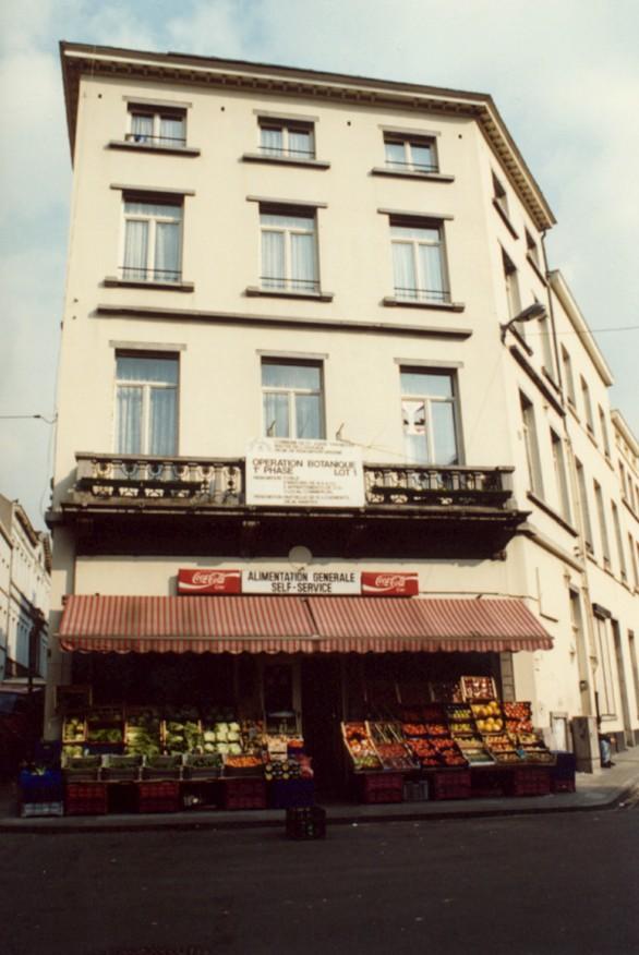 Rue Verte 22, rue Saint-François 2 et rue Botanique 1 (photo 1993-1995).