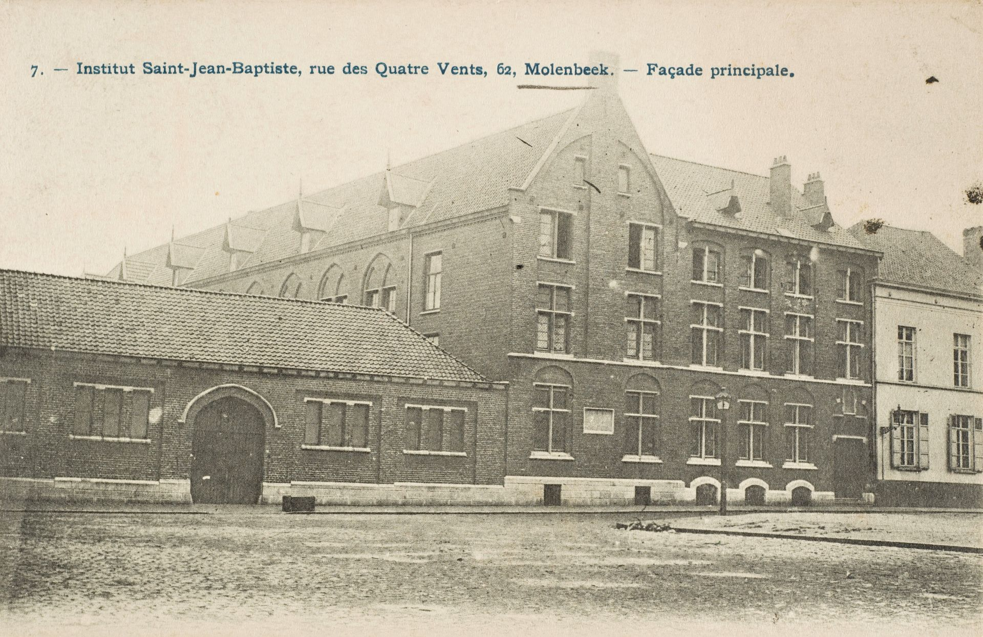 Rue des Quatre-Vents 62, Institut Saint-Jean-Baptiste (Collection Dexia Banque-ARB_RBC)