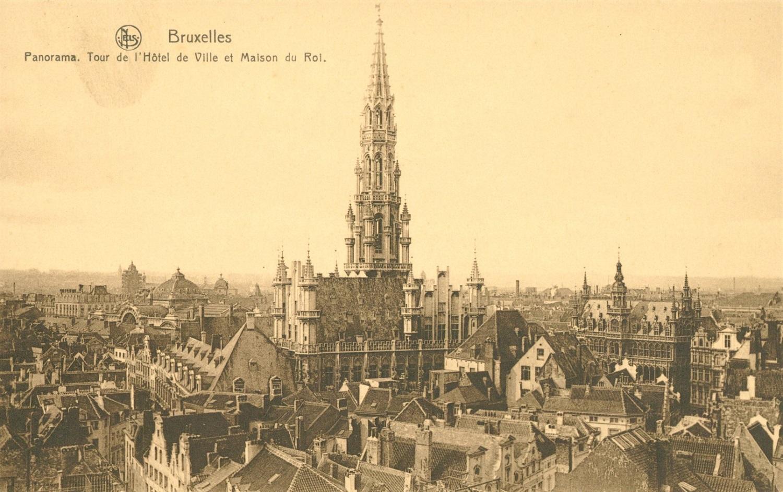 Tour de l'Hôtel de Ville de Bruxelles (Collection Belfius Banque-Académie royale de Belgique © ARB – urban.brussels, DE18_008)