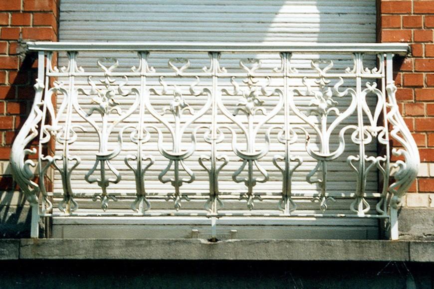 Gebuikte borstwering in gietijzer, Oranjelaan 12, Sint-Pieters-Woluwe, 1911, arch. Victor Janssen., 2003