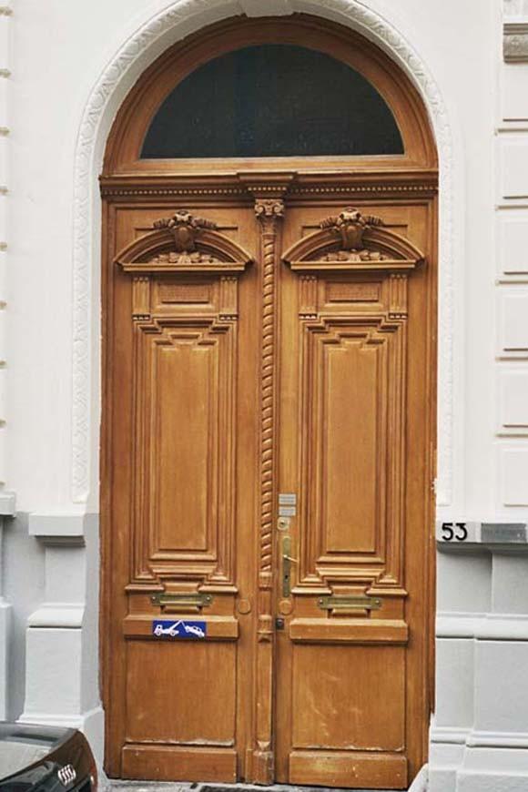 Houten deur, Engelandstraat 53, Sint-Gillis, 1875, arch. Jules De Somme., 2004