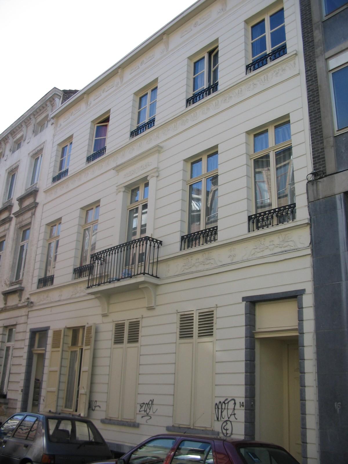 Style Empire, ensemble de deux maisons, rue Marcq 12-14, Bruxelles, 1826, maître-plafonneur J.F. Bonnevie., 2005