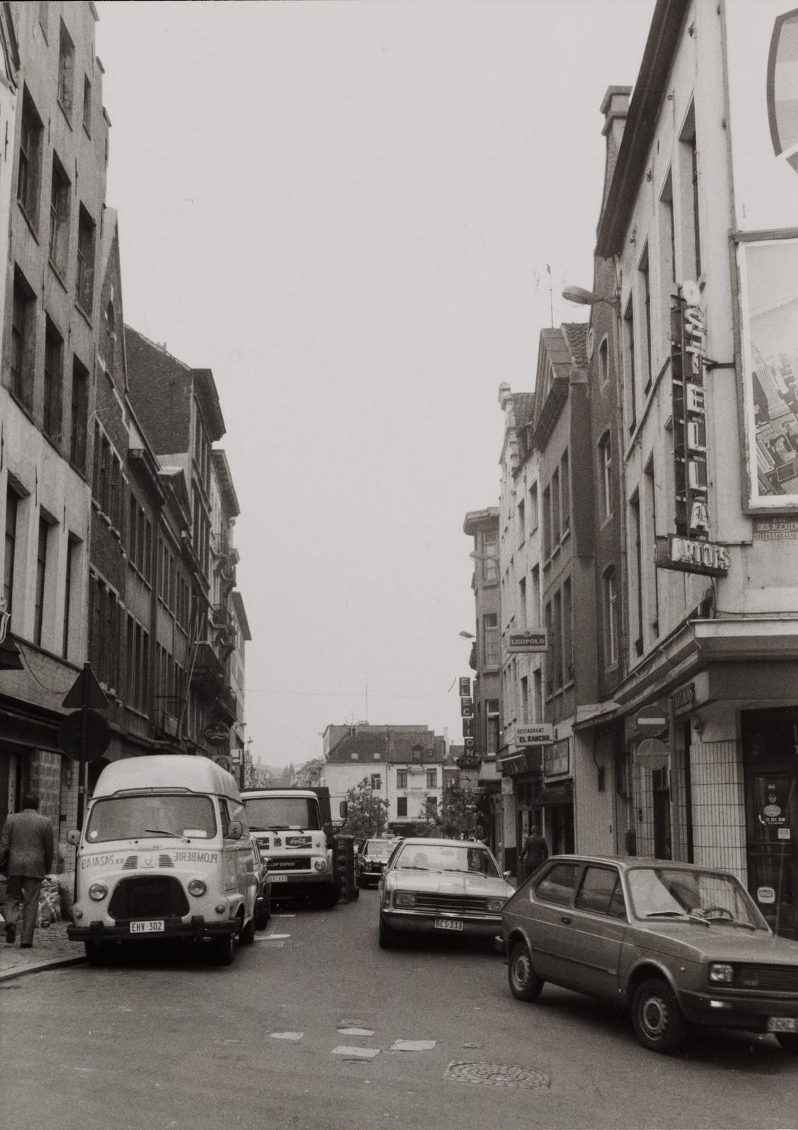 rue Haute, vue depuis la rue de Rollebeek., 1980