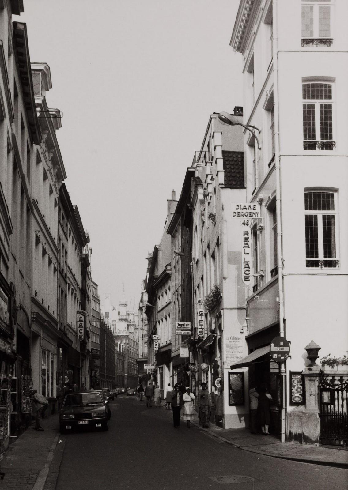 Stoofstraat, straatbeeld vanuit Eikstraat., 1980
