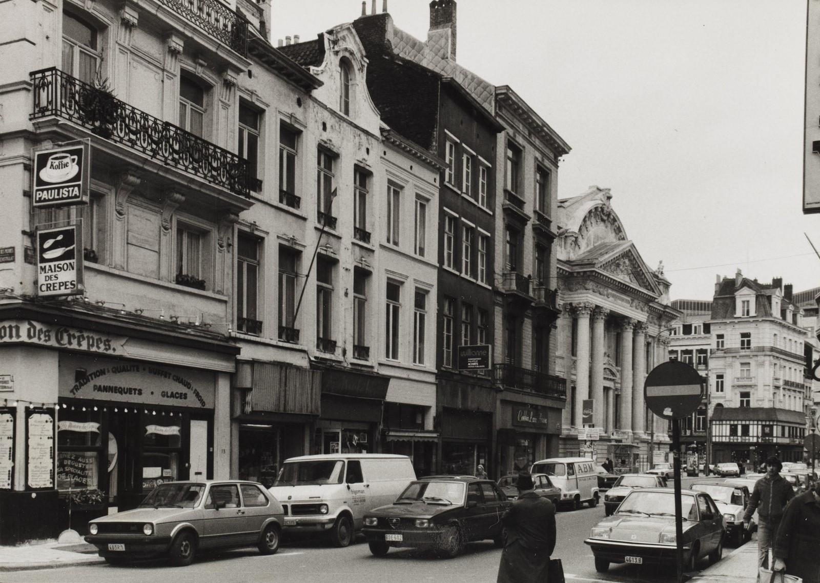 Rue du Midi 13 à 5, angle rue des Pierres, 1980