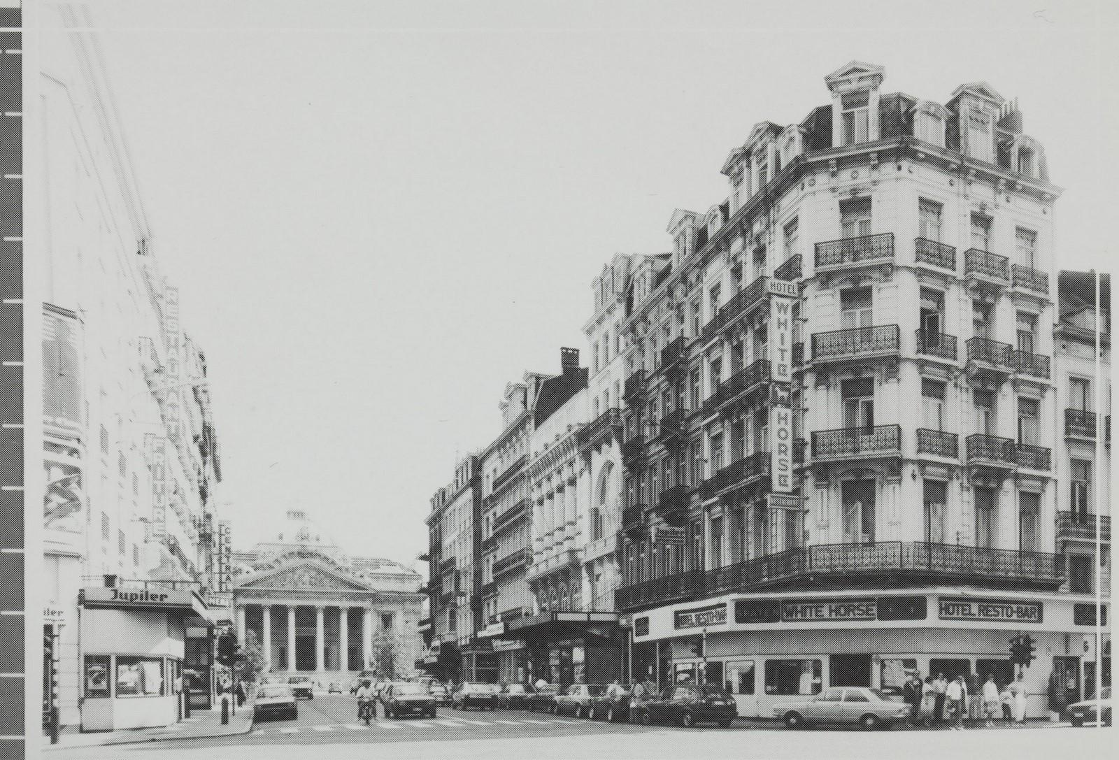 AugusteOrtsstraat, pare nummers, zicht naar de Beurs., [s.d.]