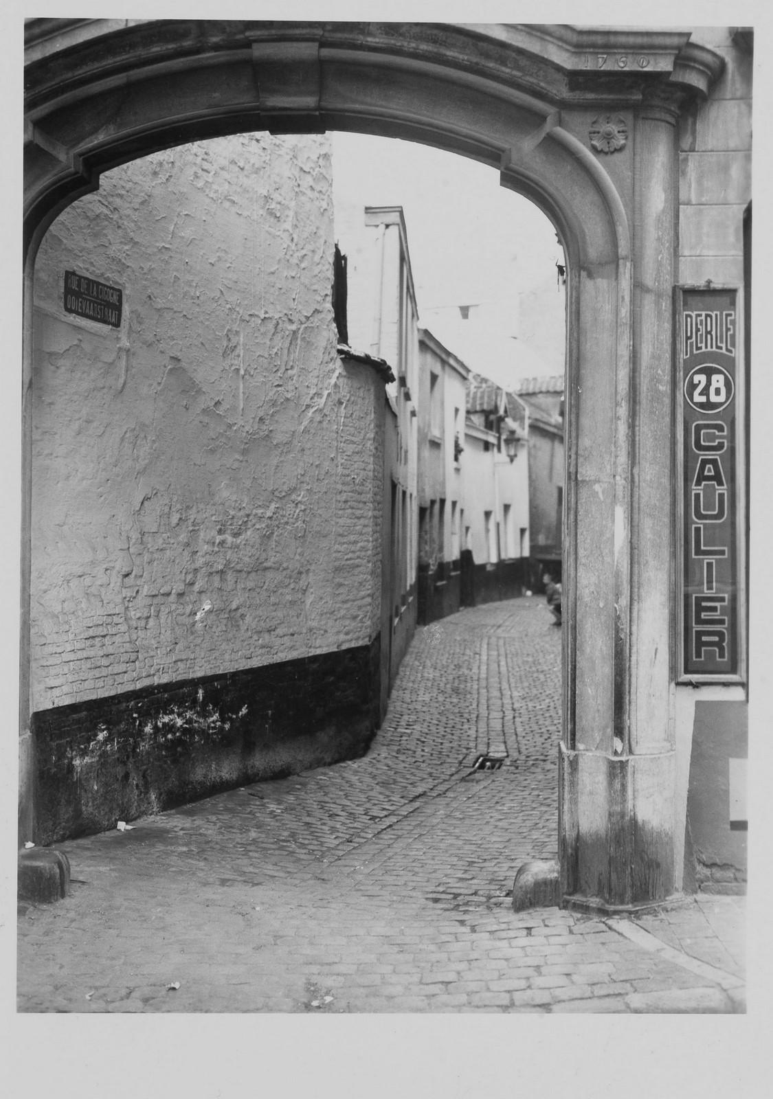 Ooievaarsstraat, straatbeeld., 1930