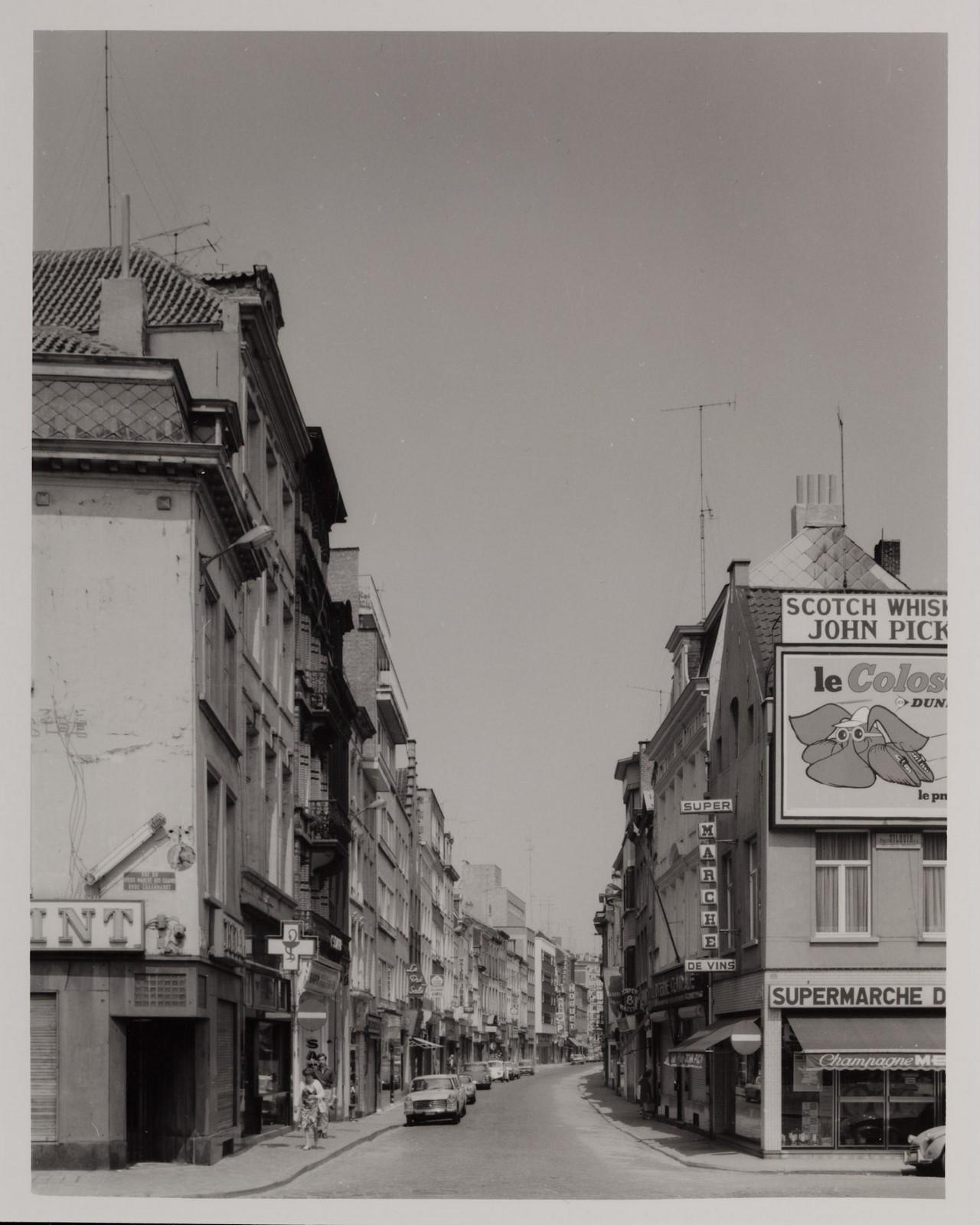 rue de Flandre, vue depuis la place Sainte-Catherine., 1900